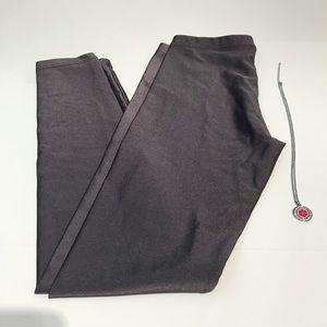 AMERICAN APPAREL Grey Nylon Metallic Leggings Sz S